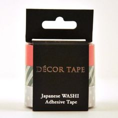 Decor Washi Tape 3 Piece Set: Solid Red, Striped Green, Silver Dots $12.50 perfect for planner visualizing!