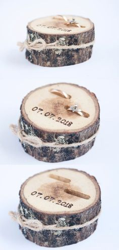 New Photo Rustic Ring Bearer Pillow, Wedding Wood Disc, Rustic Ring Box, Birch Wedding De Suggestions Are you currently searching for inexpensive wedding rings? At EFES you can find wedding rings from N Rustic Ring Bearers, Wedding Ring Bearers, Birch Wedding, Wedding Rustic, Wedding Table, Wedding Ceremony, Wedding Cakes, Wood Slices Wedding, Elegant Wedding