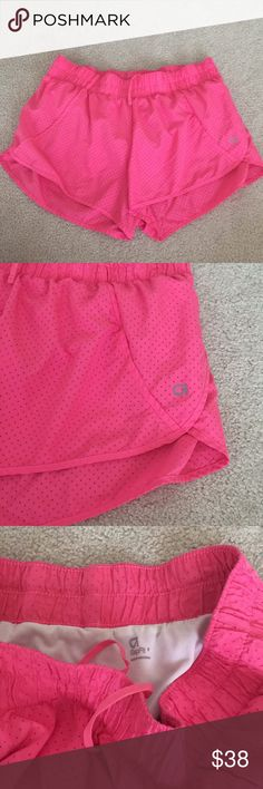 Gap Fit mesh running shorts Pink running shorts with a lot of life left. Very comfortable and light weight GAP Shorts