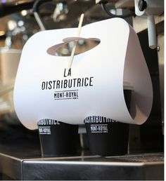 la distributrice coffe to go packaging