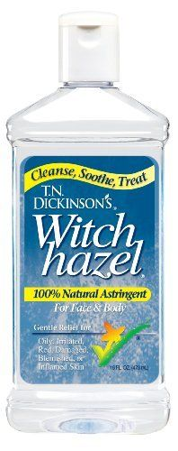 T.N. Dickinson's Astringent, 100% Natural, Witch Hazel 16 fl oz (473 ml):Amazon:Beauty Use in a spray bottle for help with acne and as a toner!