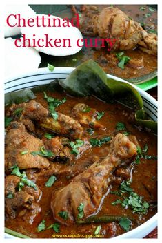 Chettinad chicken curry / kuzhambu Chettinad Chicken, Chicken Images, Indian Curry, Chicken Curry, Biryani, Indian Food Recipes, Spicy, Vegetarian, Dishes