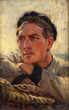 *Anselmo Bucci (Italian, 1887-1955) - Portrait of a Sailor