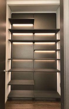 Linea Mixal Luz Led, Bookcase, Sweet Home, Indoor, Shelves, Closet, Design, Home Decor, Lights