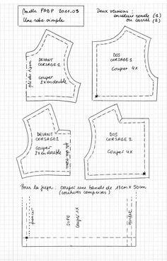 PAR AMOUR DES POUPEES :: Melle PADP 2011-03 Une petite robe toute simple