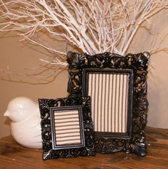 2 Ornate Black Decorative Picture Frames by ThrownTogether on Etsy, $23.00