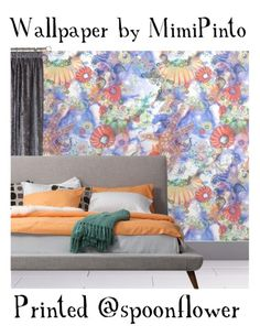 Sea Shells on the sea shore. Wallpaper with fine art design.   Bedroom Styling ideas https://www.spoonflower.com/profiles/mimipinto …  #interiorstyling #bedroom #makeover #renovation #springclean #wallpaper #fabric #sewing #craft #diy #homedecor #homedesign #MondayMotivation
