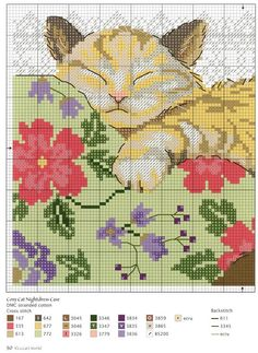 """Working this up for a gift. Find it by searching """"gatos"""". Cat Cross Stitches, Cross Stitch Charts, Cross Stitch Designs, Cross Stitching, Cross Stitch Embroidery, Cross Stitch Patterns, Needlepoint Patterns, Embroidery Patterns, Motifs Animal"""