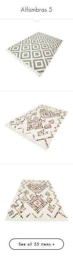 """Alfombras 5"" by yblacasa ❤ liked on Polyvore featuring home, rugs, burnt orange rug, burnt orange area rug, home improvement, flooring, floors, contemporary handmade rugs, vintage area rugs and handmade rugs"