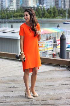 Orange Dress. Jillian Harris. Design Darling Style Crush