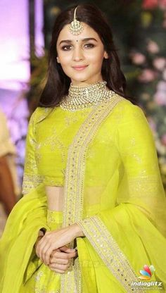 Items similar to Alia bhatt sabyasachi bridal lehenga on Etsy Indian Fashion Dresses, Dress Indian Style, Indian Gowns, Indian Designer Outfits, Indian Attire, Fashion Outfits, Alia Bhatt Lehenga, Sabyasachi Lehenga Bridal, Anarkali