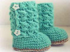 Crochet baby boots  $4.00