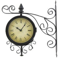 Black Metal Two Sided Bracket Wall Clock | Shop Hobby Lobby