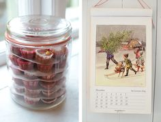 Christmas sweets in a jar