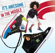 Cool skate shoes are here from #DC http://www.famousfootwear.com/en-US/Product/34759-1018571/DC+Shoes/Black_Multi_White/Women's+Rebound+Hi.aspx #backtoschool