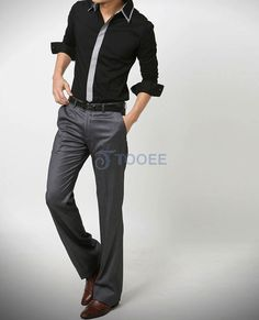 Non-ironing Boutique Black All Match Suit Pant