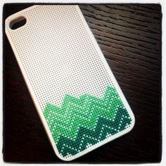 chevron iphone case stitching >> by The Crafty Mummy