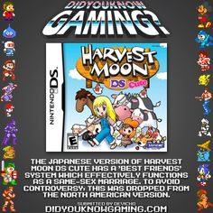 Harvest Moon DS Cute. Parts of the feature...