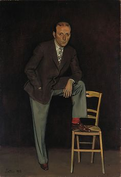 Portrait of Pierre Matisse by Balthus (Balthasar Klossowski) 1938. Oil on canvas. (Pierre Matisee (1900-1989) the son of French painter Henri Matisse)