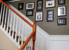 Image 21 Staircase With Picture Frames On LoveYourRoom: How To Create A Photo Gallery On Your Wall Stairwell Wall, Wall Niche, Rustic Space, Picture Frame Wall, Hallway Pictures, Building For Kids, Staircase, Stair Gallery, Coastal Interiors Design