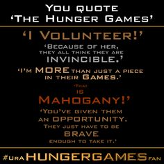 The Hunger Games quotes Hunger Games Fandom, Hunger Games Humor, Hunger Games Catching Fire, Hunger Games Trilogy, Tribute Von Panem, Mocking Jay, Book Fandoms, Funny Games, Book Quotes