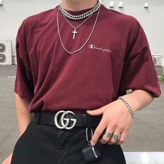 From smart sterling silver jewellery to streetwear styles our global experience places designb at the pinnacle of men's jewellery. Fashion Mode, Aesthetic Fashion, Aesthetic Clothes, Korean Fashion, Fashion Quiz, Aesthetic Boy, Fashion Styles, Edgy Outfits, Mode Outfits