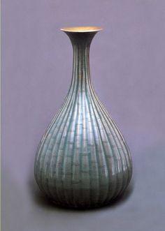 국보169호 청자 양각죽절문병 Chinese Ceramics, National Treasure, Bamboo, Objects, Porcelain, Pottery, Vase, Asian, Shapes