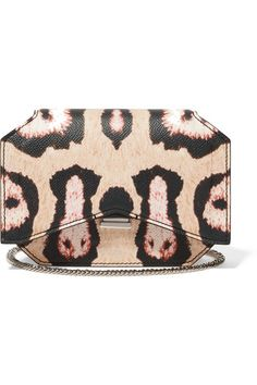 Beige, black and baby-pink textured-leather (Calf) Detachable chain shoulder strap  Designer plaque, silver hardware Internal patch pocket, three card slots Fully lined in black leather Push lock-fastening front flap  Comes with dust bag Weighs approximately 1.3lbs/ 0.6kg Made in Italy