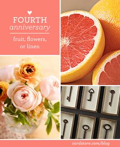Fourth wedding anniversary gift ideas - fruit, flowers or linen | Cardstore Blog