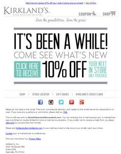 Kirkland's re-engagement campaign Dec. 2013