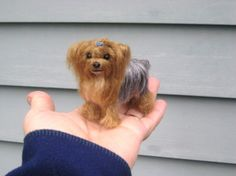 Needle Felted Dog / Custom  Miniature Sculpture by GourmetFelted, $275.00