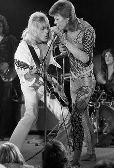 Mick Ronson & David Bowie