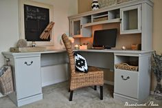 Beachwood Place: My $25 Office Desk/Office makeover!