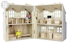 Doll House- Carry 'n Play Doll House Real Wood Toys Doll Houses For Sale, Toys For Little Kids, Play Doll, Gift Finder, Toys R Us, Wood Toys, Real Wood, Doll Accessories, Toddler Bed