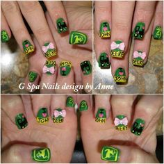 John Deere nails. You could get them done with your pink camo