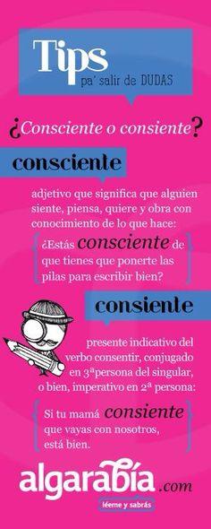consciente, consiente