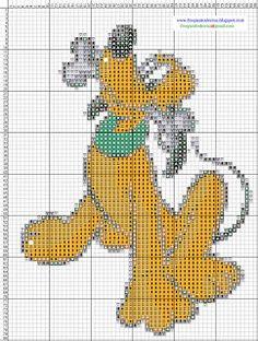 Dibujos Punto de Cruz Gratis: Pluto Disney - Punto de cruz