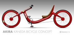 """fredoichi: """" Kaneda Bicycle Concept Another fun little Akira project, the Kaneda Bike as a Bicycle. Done in Sketchbook Pro and Photoshop. Now I'm ready to make a real one. """""""
