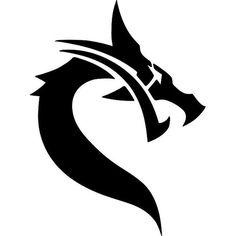 re-usable washable mylar stencil Small Dragon Tattoos, Dragon Tattoo Designs, Tribal Drawings, Art Drawings, Dragon Medieval, Cool Symbols, Dragon Silhouette, Dragon Pictures, Vintage Mermaid