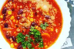 Rozgrzewającą zupa meksykańska chili con carne