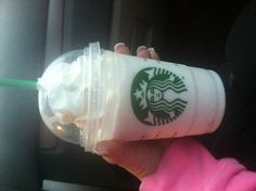 Starbucks Cake Batter Frap. Vanilla Frap with hazelnut flavoring added. Hidden Menu item.