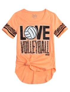 Animal Print Sports Tee This shirt is perfect for me because I am a volleyball player.