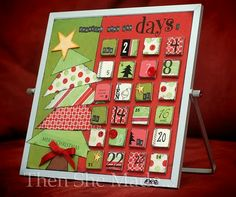 Cute magnet advent calender. Now who's gonna help me make it!!