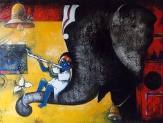 Suresh-Gosavi-Devotion-and-Strength-II #Acrylic on #Canvas #Paintings #Eikowa #Arts #IndianArts #Online EK-15-0009-AC-0003-36x48