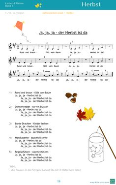 Songs, sheet music & poems for kindergarten songs, children& song, song, Kindergarten Poems, Kindergarten Portfolio, Jobs, Educational Activities, Kids And Parenting, Sheet Music, Preschool, Language, Teaching