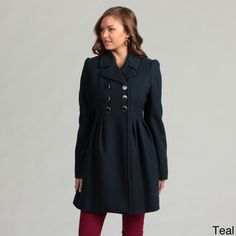@Overstock - Princess seam detailing produces a chic and feminine figure for this Betsey Johnson coat. This coat features soft wool construction with an interior leopard-print lining.http://www.overstock.com/Clothing-Shoes/Betsey-Johnson-Pleated-Wool-Coat/6710990/product.html?CID=214117 $159.99