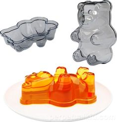 Giant Gummy Bear Jello Mold!  Need to try this with Jello Shot recipe!  How fun would that be!