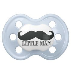 Little Man Mustache Custom Pacifier Personalized