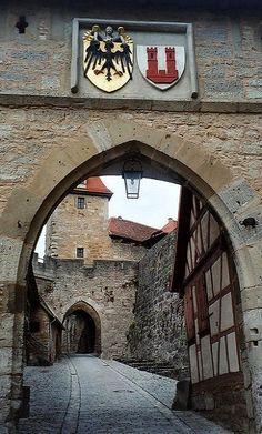 The Kobolzeller Tor (1360) ~ Rothenburg, Bavaria, Germany | Flickr - Photo by zug55