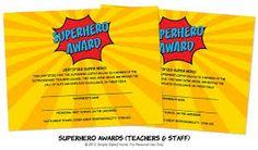 super hero teacher appreciation - Google Search..........change wording to fit PTA